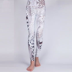 Snow Leopard Yoga Leggings