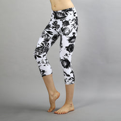 Floral Yoga Capri Leggings
