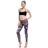 Lotus & Hummingbird Yoga Leggings