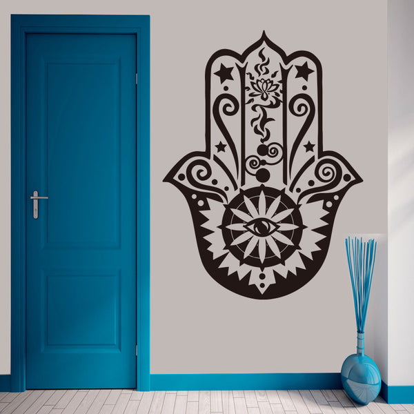 3D Wall Vinyl Decal Hamsa Hand Fatima Fish Eye