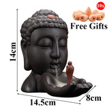 Buddha Backflow Incense Burner + 10Pcs Incense Cones