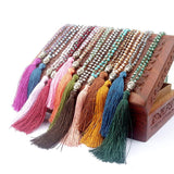 Colorful Beads Tassel Bohemian Style Necklaces