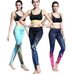 Peacock/Butterflies Yoga Leggings