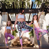 Mom-Daughter Unicorn Yoga Leggings