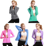 Zipper Long-Sleeve Yoga Jackets