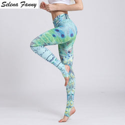 Peacock High Waist Yoga Leggings