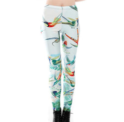 Hummingbirds Yoga Leggings