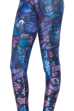 Blue Owl Yoga Leggings