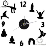 Yoga Figure DIY Wall Clock