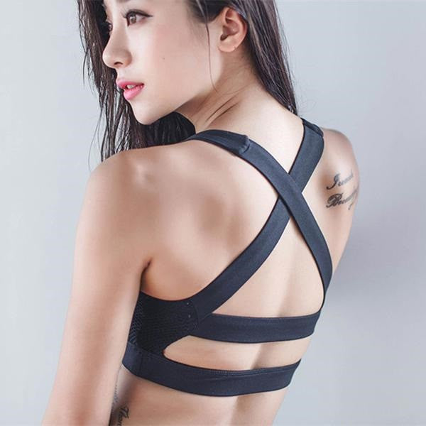 Cross Straps Yoga Bra