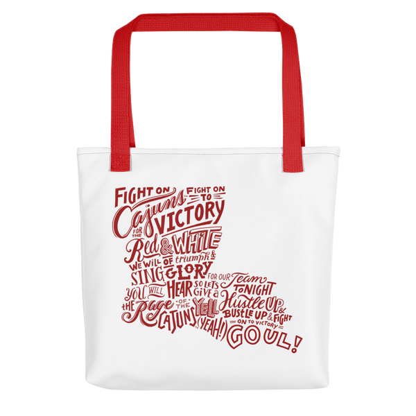 """Cajun Fight Song"" Tote bag"