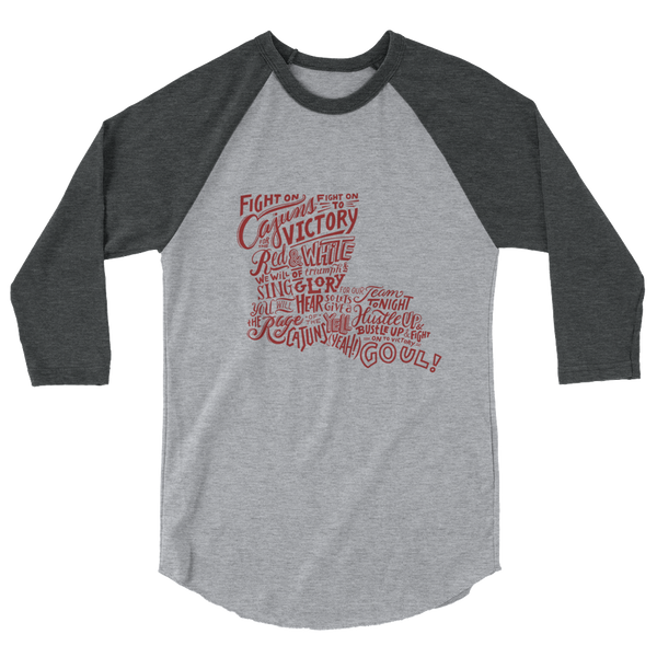 """Fight On Cajuns"" Raglan Shirt"