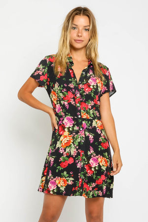 Lindsay Floral Shirt Dress