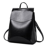 Minimalist Faux-Leather Backpack - My Beauty Cartel