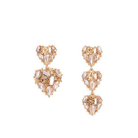 Asymmetric Hearts Earrings - My Beauty Cartel