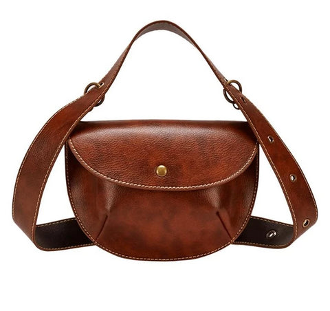 Retro-Luxe Leather Waist Bag - My Beauty Cartel