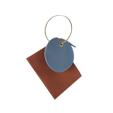 Patent Leather Ring-Handle Marin Envelope Bag - My Beauty Cartel
