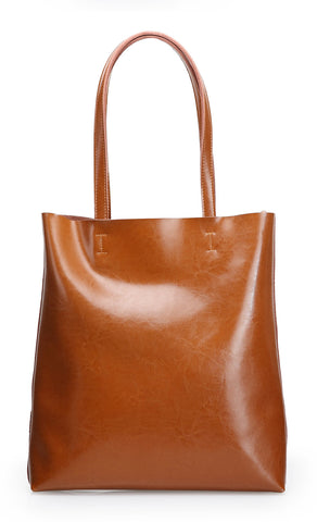Genuine Leather Emilie Tote Bag - My Beauty Cartel