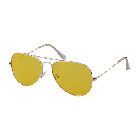 Gold-Frame Aviator Sunglasses - My Beauty Cartel