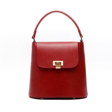 Genuine Leather Zoe Petite Bucket Bag - My Beauty Cartel