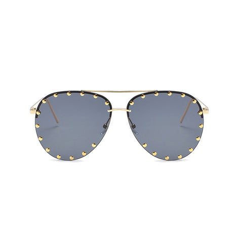 Studded Aviator Sunglasses - My Beauty Cartel