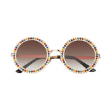 Round Crystal Sunglasses - My Beauty Cartel