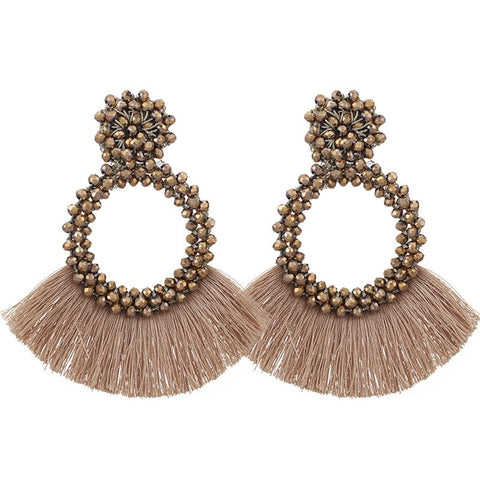 Oversized Tassle Earrings - My Beauty Cartel