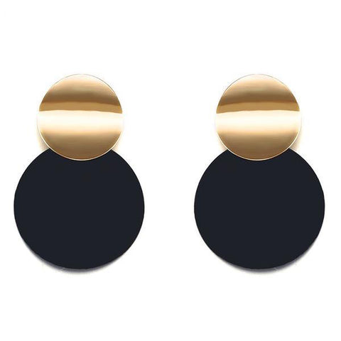 Statement Black Stud Earrings - My Beauty Cartel