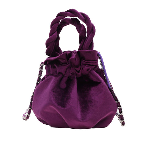 Silk Bucket Handbag - My Beauty Cartel