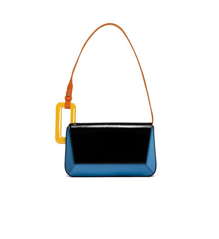 Faux-Leather Colorblock Shoulder Bag - My Beauty Cartel