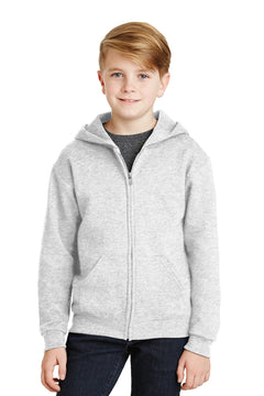 JERZEES® - Youth NuBlend® Full-Zip Hooded Sweatshirt.  993B