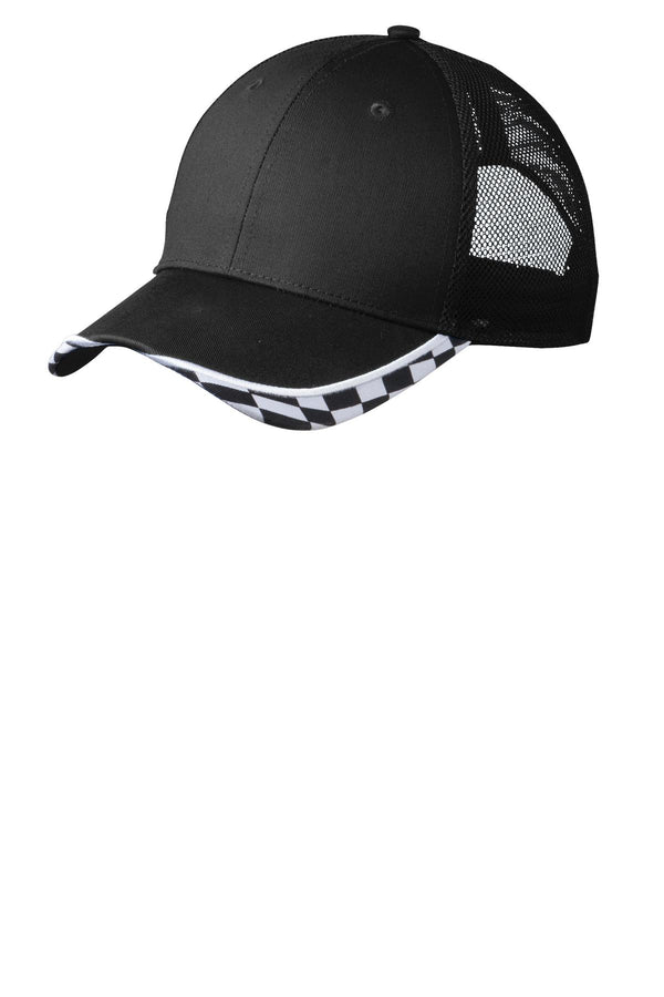 Port Authority® Checkered Racing Mesh Back Cap. C903