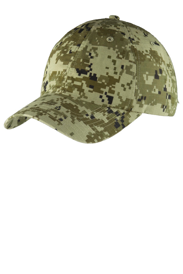 Port Authority® Digital Ripstop Camouflage Cap. C925