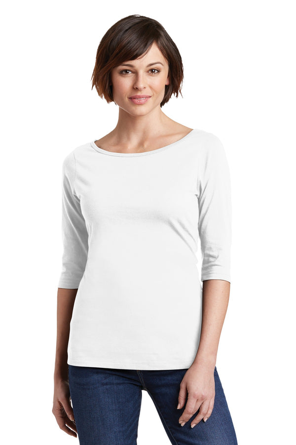 District Made® Ladies Perfect Weight® 3/4-Sleeve Tee. DM107L