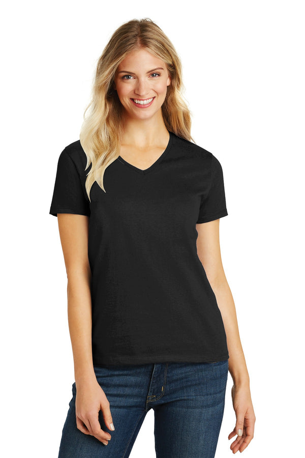 District Made® Ladies Perfect Blend® V-Neck Tee. DM1190L
