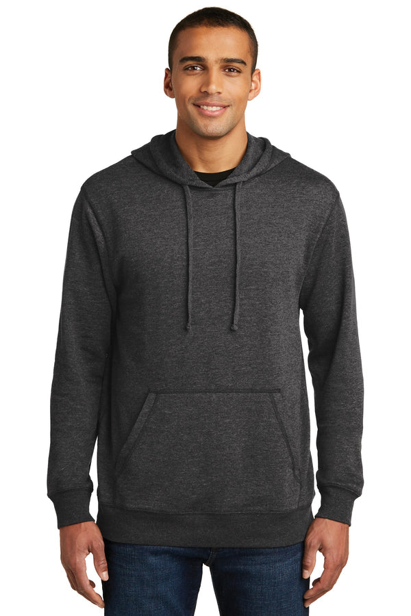 District Made® Mens Lightweight Fleece Hoodie. DM391