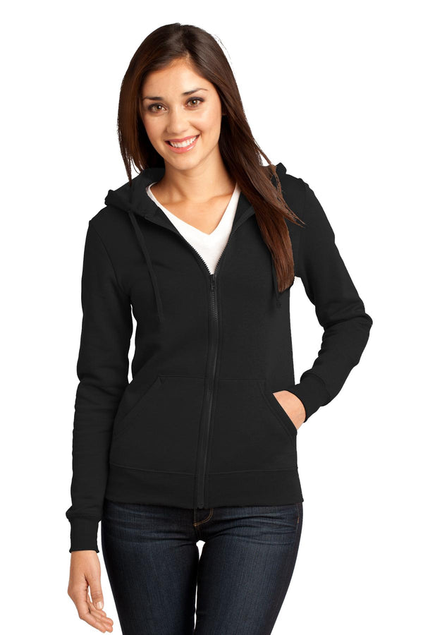 District® - Juniors The Concert Fleece® Full-Zip Hoodie. DT801