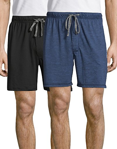Hanes Men's X-Temp® Brushed Performance Knit Shorts 2-Pack