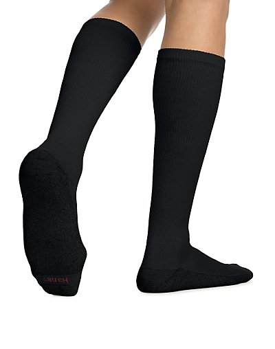 Hanes ComfortBlend® Over-the-Calf Crew Socks 6-Pack