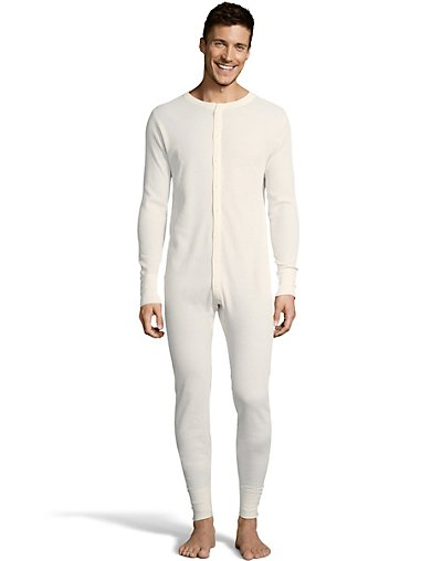 Hanes Men's Solid Waffle Knit Thermal Union Suit