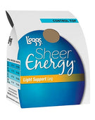L'eggs Sheer Energy Light Support Leg Control Top, Sheer Toe Pantyhose