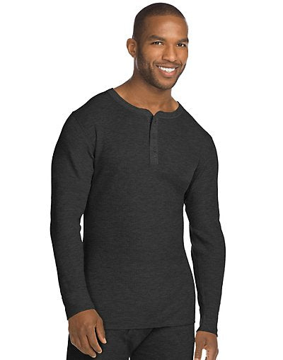 Hanes X-Temp; Men's Organic Cotton Thermal Henley