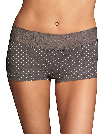 Maidenform® Cotton Dream® Boyshort With Lace