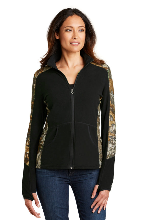 Port Authority® Ladies Camouflage Microfleece Full-Zip Jacket. L230C