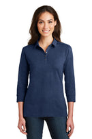 Port Authority® Ladies 3/4-Sleeve Meridian Cotton Blend Polo. L578