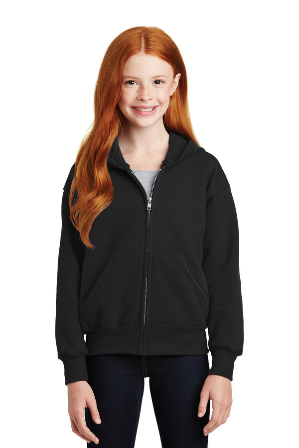 Hanes® - Youth EcoSmart® Full-Zip Hooded Sweatshirt. P480