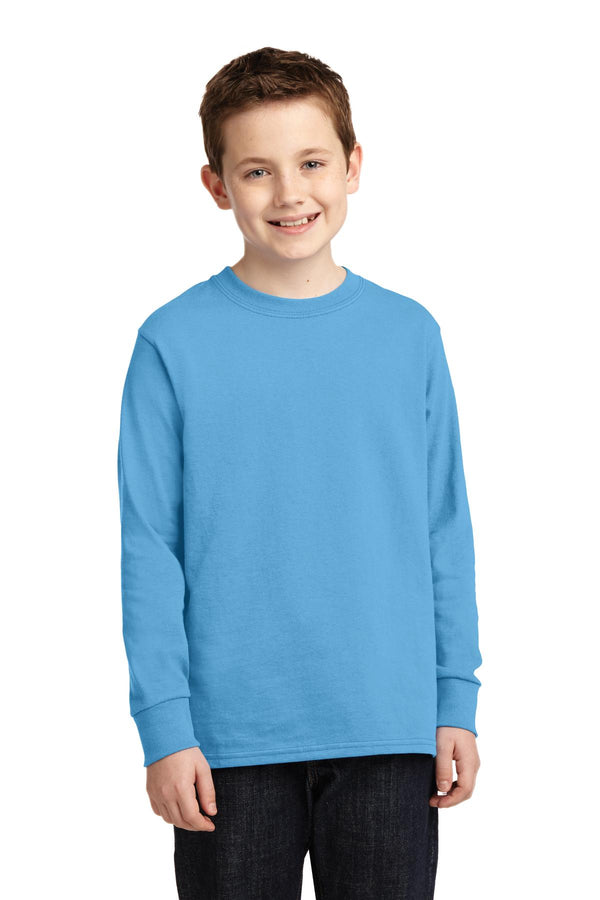 Port & Company® Youth Long Sleeve Core Cotton Tee. PC54YLS