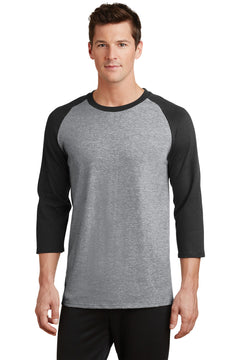 Port & Company® Core Blend 3/4-Sleeve Raglan Tee. PC55RS