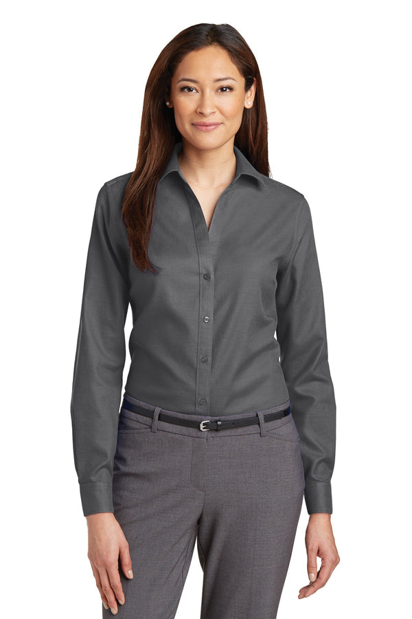 Red House® Ladies Non-Iron Diamond Dobby Shirt. RH77