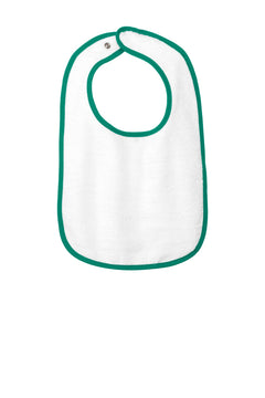 Rabbit Skins™ Infant Contrast Trim Terry Bib. RS1003